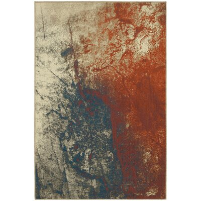 Wilkins Beige/Orange Area Rug Rug Size: 67 x 96