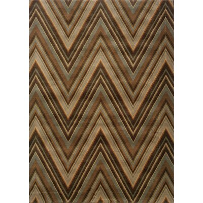 Guadalupe Brown/Blue Area Rug Rug Size: 5'3