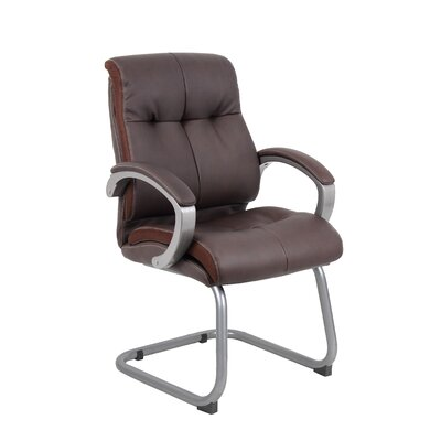 Miracle Executive Guest Chair Upholstery: Brown