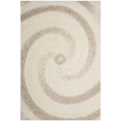 Sorrento Cream/Beige Area Rug Rug Size: Square 67