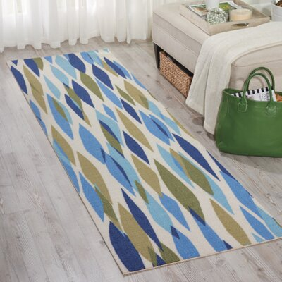 Gloria Blue/Green Indoor/Outdoor Area Rug Rug Size: Runner 23 x 8