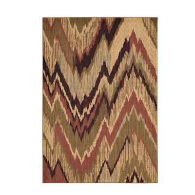 Romaine Camel Multi-color Area Rug Rug Size: 10 x 13