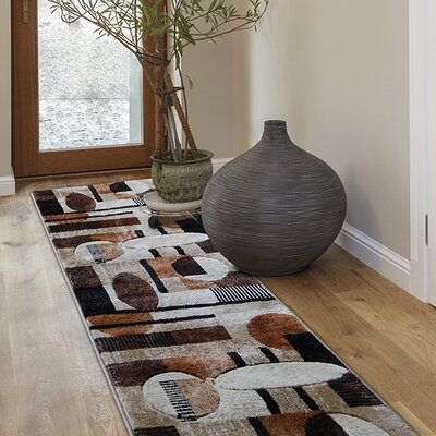 Nolan Patterned Brown/Tan Area Rug Rug Size: 3'3