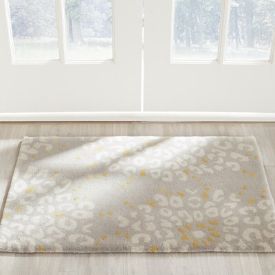 Andersen Hand Tufted Wool Gray/Ivory Area Rug Rug Size: Rectangle 8 x 10