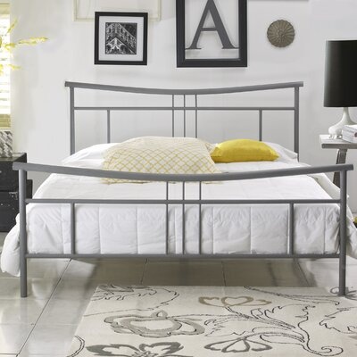 Nia Platform Bed Size: Queen, Color: Matte heather gray