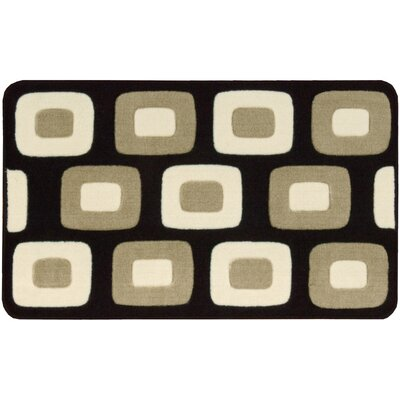 Donaldson Black/Gray Area Rug Rug Size: Rectangle 18 x 26