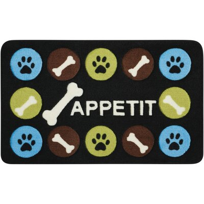 Beatriz Black/Blue Novelty Rug