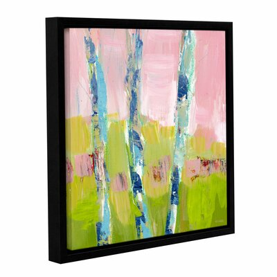 'Trees Strength' Framed Painting Print on Wrapped Canvas Size: 10