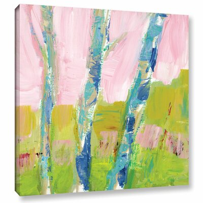 'Trees Belief' Painting Print on Wrapped Canvas Size: 10