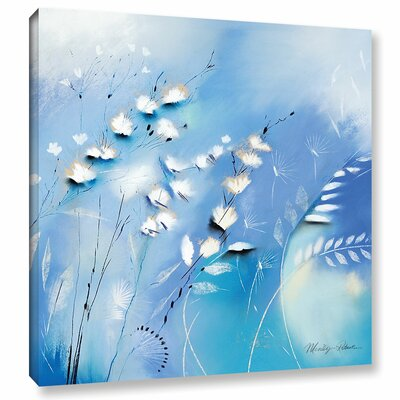 'Blue Whips' Painting Print on Wrapped Canvas Size: 10