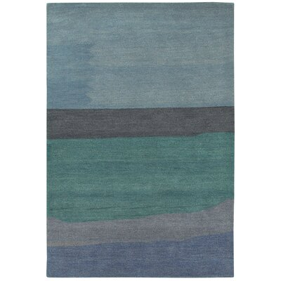 Cora Hand-Woven Green/Gray Area Rug Rug Size: Rectangle 2 x 4