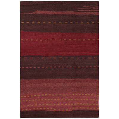Cora Hand-Woven Red/Brown Area Rug Rug Size: 2 x 4