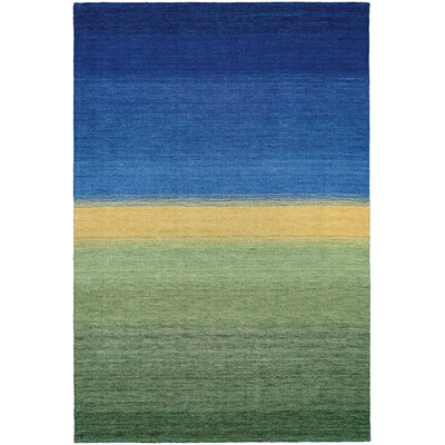 Cora Greener Pastures Hand-Woven Ocean Blue Area Rug Rug Size: Rectangle 2 x 4