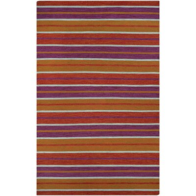Brylee Coral Cay/Fruit Hand-Woven Punch Indoor/Outdoor Area Rug Rug Size: 5 x 8
