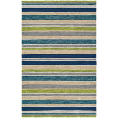 Cordero Hand-Woven Ocean Blue Indoor/Outdoor Area Rug Rug Size: 5 x 8