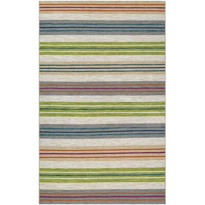 Cordero Hand-Woven Sand/Blue/Green Indoor/Outdoor Area Rug Rug Size: Rectangle 5 x 8