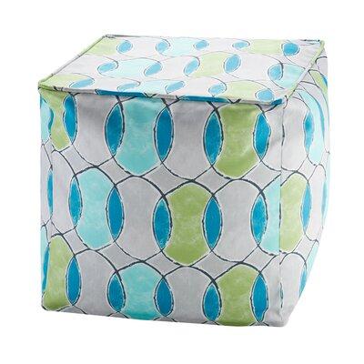 Dahlia Printed Circles 3M Scotchgard Outdoor Pouf Ottoman Upholstery: Blue/Green