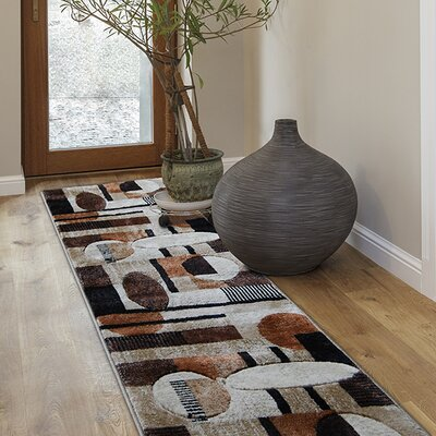 Nolan Patterned Brown/Tan Area Rug Rug Size: Runner 1'9