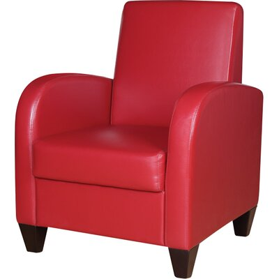 Kaelyn Armchair Upholstery: Red