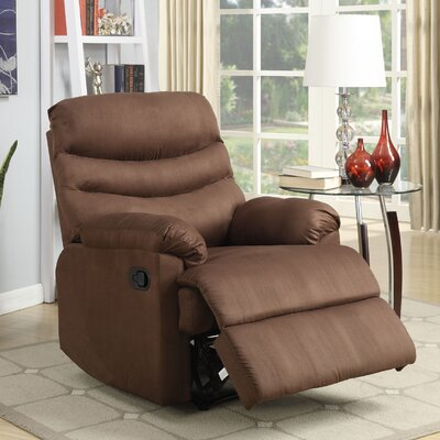 Melany Manual Wall Hugger Recliner Upholstery: Chocolate