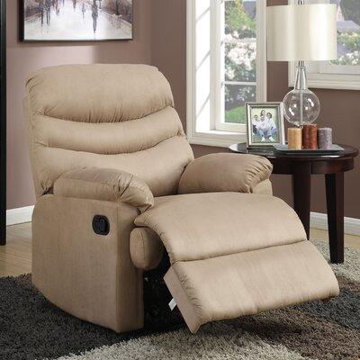 Melany Manual Wall Hugger Recliner Upholstery: Mocha
