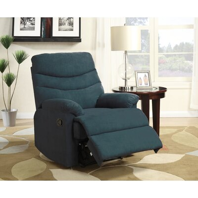 Melany Recliner Upholstery: Blue