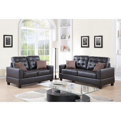 Madisyn 2 Piece Living Room Set Upholstery: Espresso