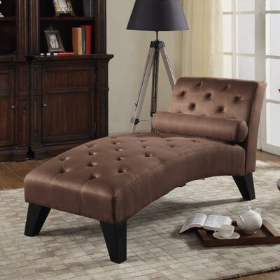 Anabelle Chaise Lounge Color: Chocolate