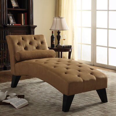 Anabelle Chaise Lounge Color: Brown