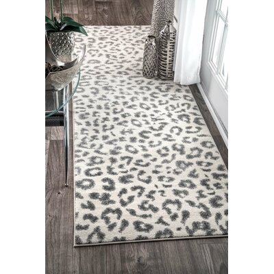 Ruiz Gray Area Rug Rug Size: Rectangle 8 x 10
