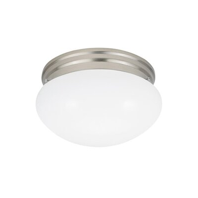Brycen 1-Light Flush Mount Base Finish: Brushed Nickel