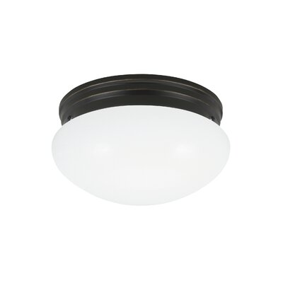Brycen 1-Light Flush Mount Base Finish: Heirloom Bronze