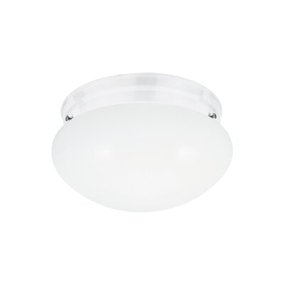 Brycen 2-Light Flush Mount Base Finish: White