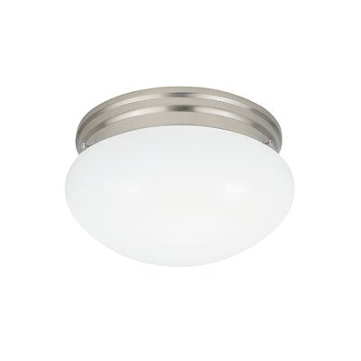 Brycen 2-Light Flush Mount Base Finish: Brushed Nickel