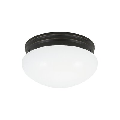Brycen 2-Light Flush Mount Base Finish: Heirloom Bronze