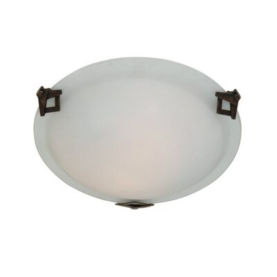 Duran Round Flush Mount Size: 4 H x 12 W x 12 D, Finish: Brunito TM