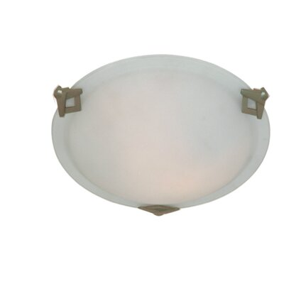 Duran Round Flush Mount Size: 4 H x 16 W x 16 D, Finish: Brushed Nickel