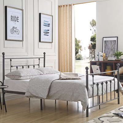 Maureen Metal Platform Bed Size: Queen, Color: Charcoal