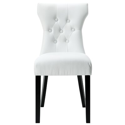 Pineda Contemporary Dining Side Chair Upholstery: White