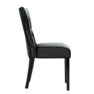 Pineda Dining Side Chair Upholstery: Black