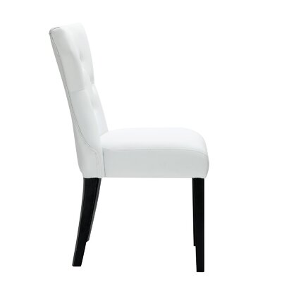 Pineda Dining Side Chair Upholstery: White