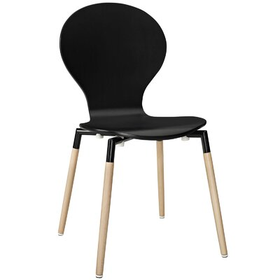 Lalani Solid Wood Dining Chair Finish: Black