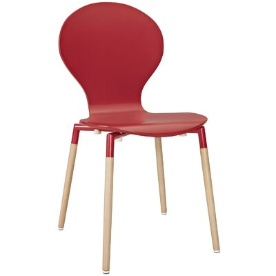Lalani Solid Wood Dining Chair Finish: Red