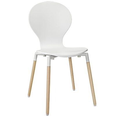 Lalani Solid Wood Dining Chair Finish: White