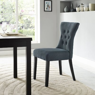 Pineda Side Chair Upholstery: Gray