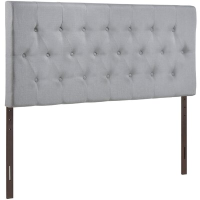 Sasha Upholstered Panel Headboard Size: King, Upholstery: Gray