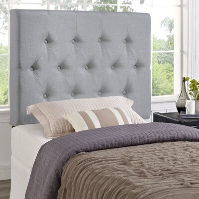 Sasha Upholstered Panel Headboard Size: Full, Upholstery: Gray