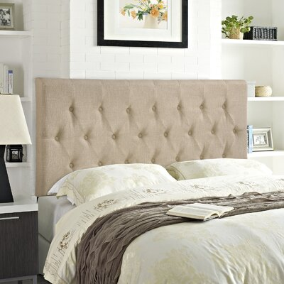 Sasha Upholstered Panel Headboard Size: Queen, Upholstery: Cafe