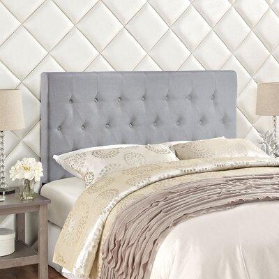 Sasha Upholstered Panel Headboard Size: Queen, Upholstery: Gray