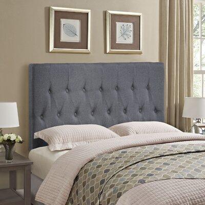 Sasha Upholstered Panel Headboard Size: Queen, Upholstery: Smoke